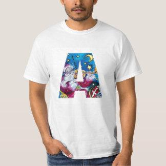 CHRISTMAS C LETTER / INSPIRED SANTA MONOGRAM T-Shirt
