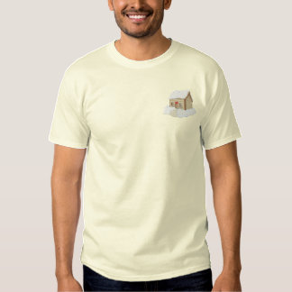 Christmas Cabin Embroidered T-Shirt