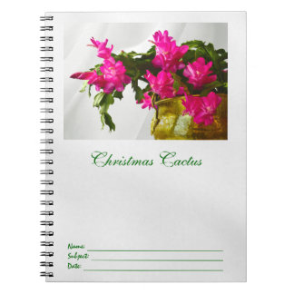 Christmas Cactus Closeup Notebook