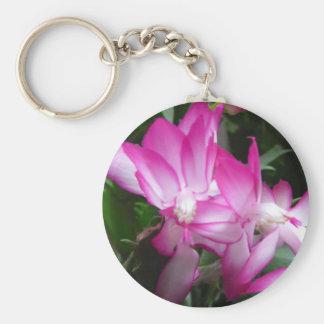 Christmas Cactus Flower Keychain