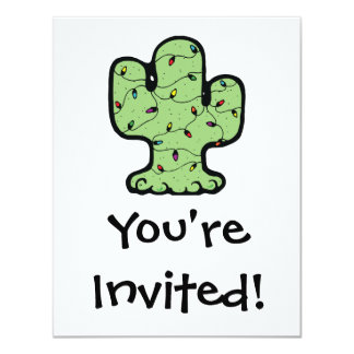 christmas cactus 4.25x5.5 paper invitation card