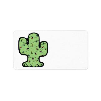 christmas cactus label