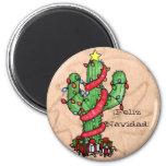 Christmas Cactus Magnet