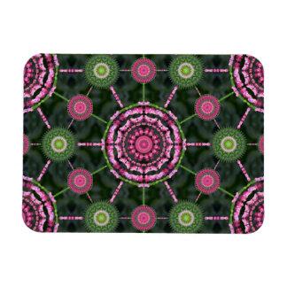 Christmas Cactus Mandala Array Christmas Magnet
