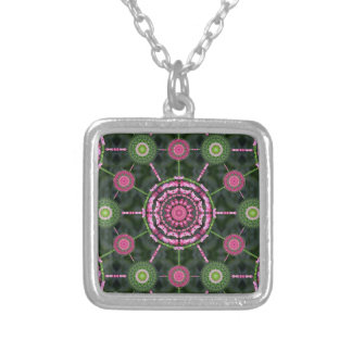 Christmas Cactus Mandala Array Necklace