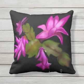 Christmas Cactus Outdoor Pillow