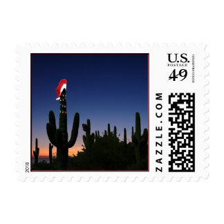Christmas Cactus Party Postage Stamp