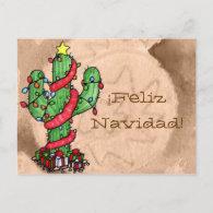Christmas Cactus Postcard