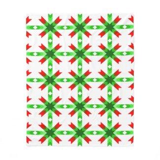 Christmas Cactus Red Star Fleece Blanket