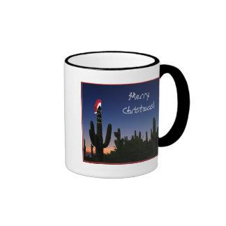 Christmas Cactus Ringer Coffee Mug