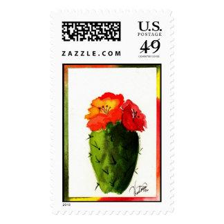 Christmas Cactus stamp