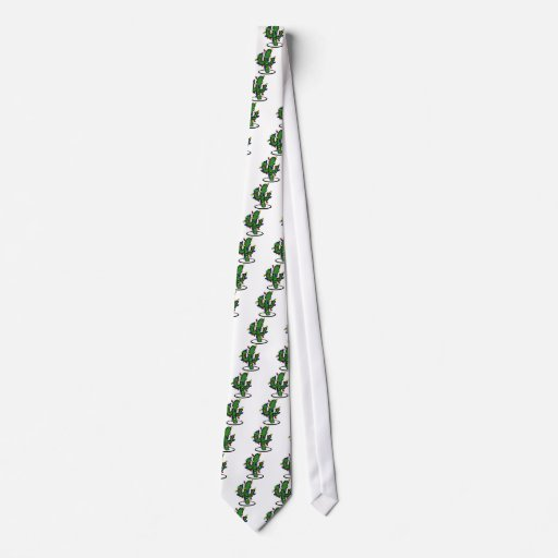 Christmas Cactus Tie