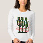 Christmas Cactus Tree Feliz Navidad Ladies LS T Shirt