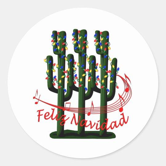 Christmas Cactus Tree Feliz Navidad Sticker