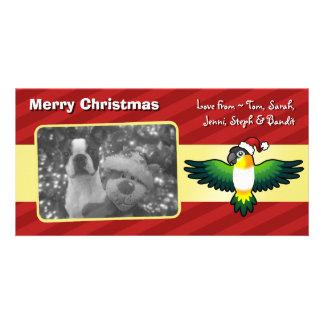 Christmas Caique / Lovebird / Pionus / Parrot Card
