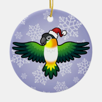 Christmas Caique / Lovebird / Pionus / Parrot Ceramic Ornament