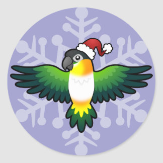 Christmas Caique / Lovebird / Pionus / Parrot Classic Round Sticker