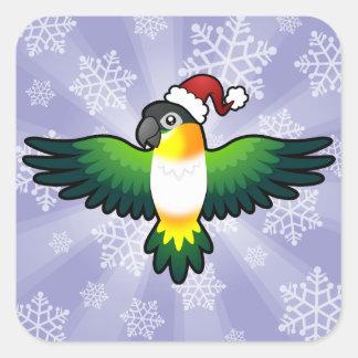 Christmas Caique / Lovebird / Pionus / Parrot Square Sticker
