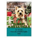 Christmas - Cairn Terrier - Lola Card