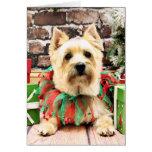 Christmas - Cairn Terrier - Lola Cards