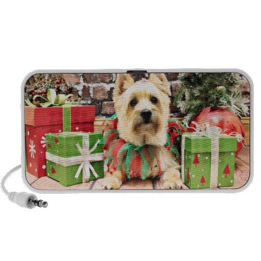 Christmas - Cairn Terrier - Lola Travelling Speakers