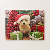 Christmas - Cairn Terrier - Roxy Jigsaw Puzzle