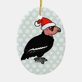 Christmas California Condor Double-Sided Oval Ceramic Christmas Ornament