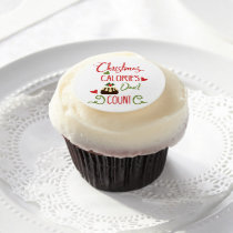 christmas calories dont count funny holiday quote edible frosting rounds
