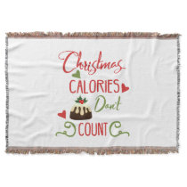 christmas calories dont count funny holiday quote throw blanket