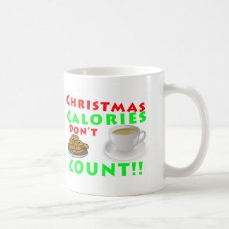 Christmas Calories Don't Count Humor Funny Coffee Mug