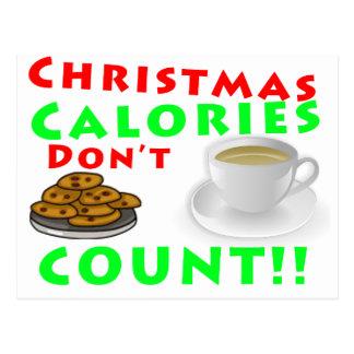 Christmas Calories Don't Count Humor Funny Postcard