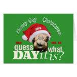 Christmas Camel Greeting Card