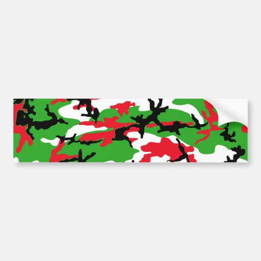 Christmas Camouflage Bumper Stickers