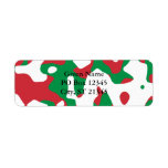 Christmas Camouflage Custom Return Address Label