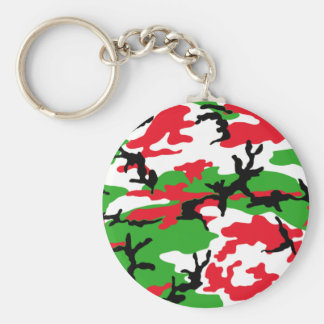 Christmas Camouflage Keychain