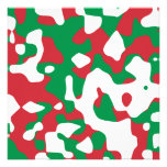 Christmas Camouflage Personalized Invite
