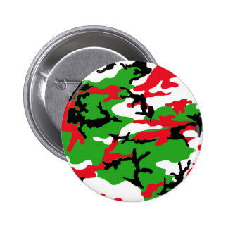 Christmas Camouflage Pinback Button