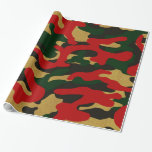 """Christmas Camouflage Wrapping Paper<br><div class=""""desc"""">Festive camouflage wrapping paper for the holiday season, </div>"""