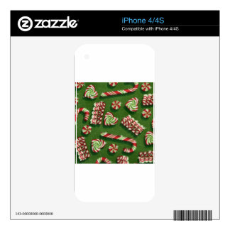 christmas candies decal for iPhone 4