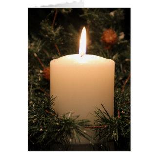 Christmas Candle 4 2014 Card
