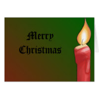 Christmas Candle and Holly Design Cards