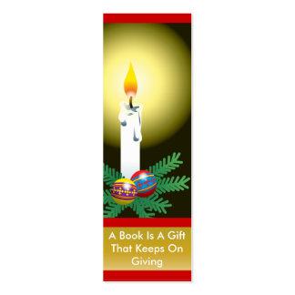 Christmas Candle Bookmark Mini Business Card