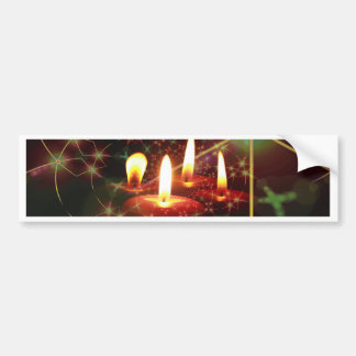 Christmas Candle Bumper Stickers