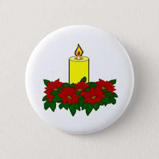 Christmas Candle Button