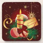 Christmas Candle Coasters