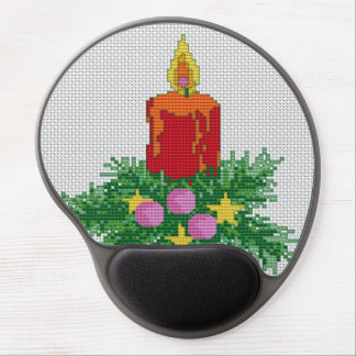 Christmas Candle Cross Stitch Gel Mouse Pad