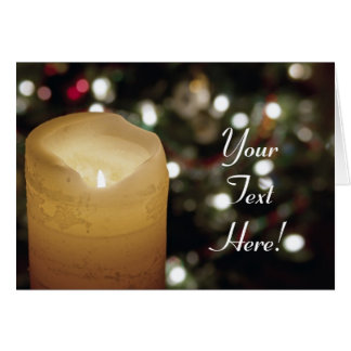 Christmas Candle Customizable Greeting Card