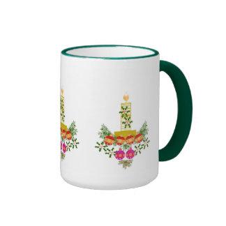 Christmas Candle Decoration Mug