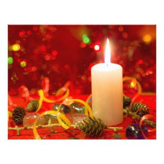 Christmas candle flyer