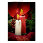 Christmas candle greeting cards
